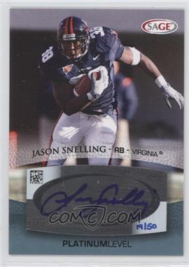 2007 SAGE Autographed Football Autographs Platinum #A51 - Jason Snelling /50