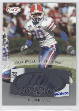 2007 SAGE Autographed Football Autographs Silver #A16 - Earl Everett /400