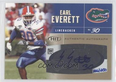 2007 SAGE Hit Autographs Gold #A25 - Earl Everett /250