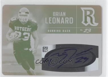 2007 SAGE Hit Autographs Printing Plate Yellow #A46 - Brian Leonard /1