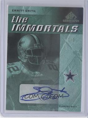 2007 SP Chirography - The Immortals - Emerald #TI-ES - Emmitt Smith /3