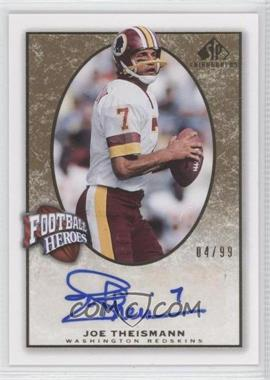 2007 SP Chirography Football Heroes Gold #FH-JT - Joe Theismann /99
