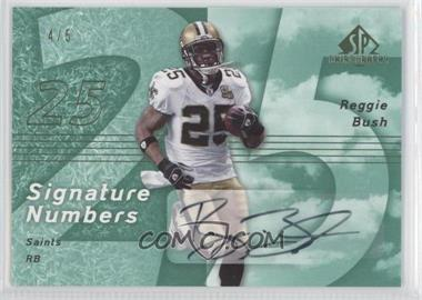 2007 SP Chirography Signature Numbers Emerald #SN-RB - Reggie Bush /5