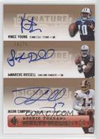 Vince Young, JaMarcus Russell, Jason Campbell /25