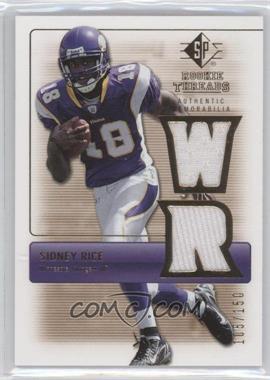 2007 SP Rookie Threads - Rookie Threads - Gold #RT-SR - Sidney Rice /150