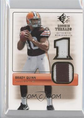 2007 SP Rookie Threads [???] #RT-BQ - Brady Quinn