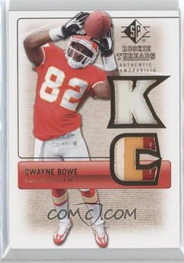 2007 SP Rookie Threads [???] #RT-DB2 - Dwayne Bowe