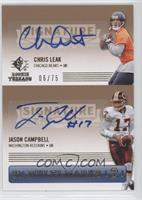 Chris Leak, Jason Campbell /75