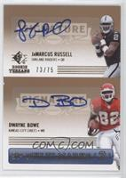 JaMarcus Russell, Dwayne Bowe /75