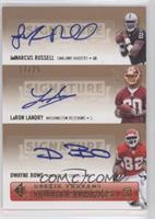 JaMarcus Russell, Dwayne Bowe, LaRon Landry /25