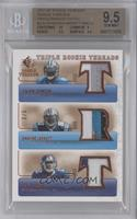 Calvin Johnson, Dwayne Jarrett, Steve Smith /5 [BGS 9.5]