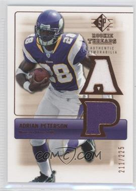 2007 SP Rookie Threads Authentic Memorabilia Bronze #RT-AP - Adrian Peterson /225