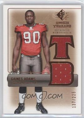 2007 SP Rookie Threads Authentic Memorabilia Bronze #RT-GA - Gaines Adams /225