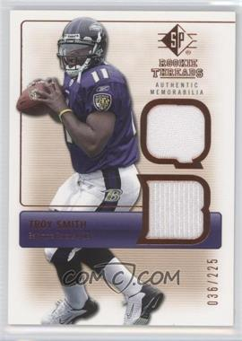 2007 SP Rookie Threads Authentic Memorabilia Bronze #RT-TS - Troy Smith /225
