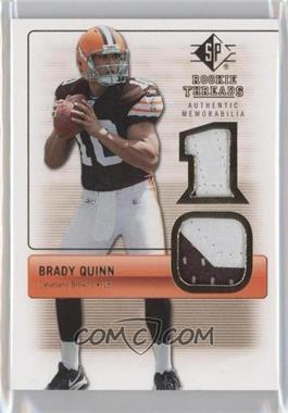 2007 SP Rookie Threads Authentic Memorabilia #RT-BQ - Brady Quinn