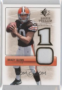 2007 SP Rookie Threads Authentic Memorabilia #RT-BQ2 - Brady Quinn