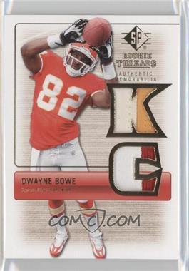 2007 SP Rookie Threads Authentic Memorabilia #RT-DB2 - Dwayne Bowe
