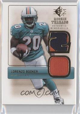 2007 SP Rookie Threads Authentic Memorabilia #RT-LB - Lorenzo Booker