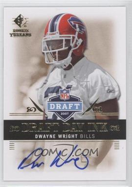 2007 SP Rookie Threads Draft Day Ink #DDI-DW - Dwayne Wright
