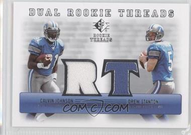 2007 SP Rookie Threads Dual Rookie Threads #DRT-JS - Calvin Johnson, Drew Stanton