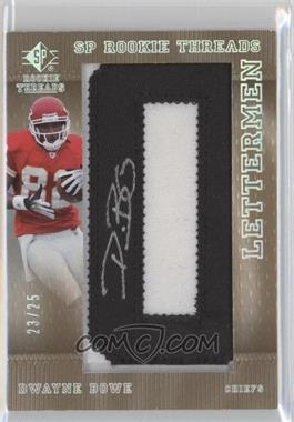 2007 SP Rookie Threads Lettermen Black #150 - Dwayne Bowe /25