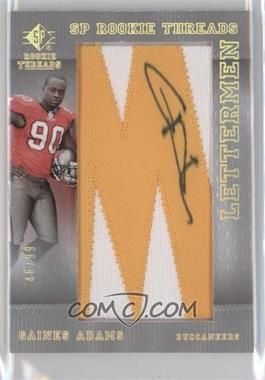 2007 SP Rookie Threads Lettermen Gold #104 - Gaines Adams /99