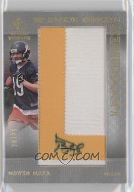 2007 SP Rookie Threads Lettermen Gold #148 - Dan Bazuin /75