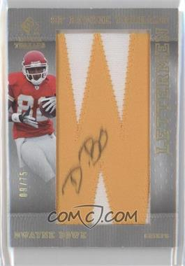2007 SP Rookie Threads Lettermen Gold #150 - Dwayne Bowe