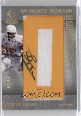 2007 SP Rookie Threads Rookie Lettermen Gold #136 - Selvin Young /99