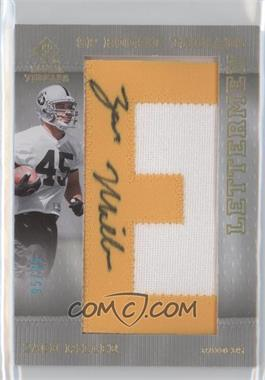 2007 SP Rookie Threads Rookie Lettermen Gold #141 - Zach Miller /99