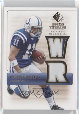 2007 SP Rookie Threads Rookie Threads Gold #RT-AG - Anthony Gonzalez