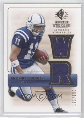 2007 SP Rookie Threads Rookie Threads Gold #RT-AG - Anthony Gonzalez /150