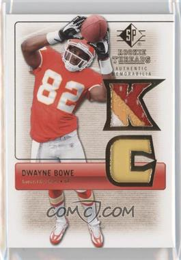 2007 SP Rookie Threads Rookie Threads Gold #RT-DB2 - Dwayne Bowe