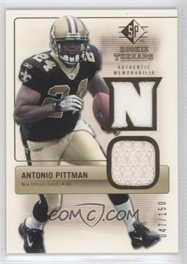 2007 SP Rookie Threads Rookie Threads Gold #RT-PI - Antonio Pittman /150