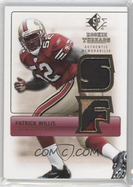 2007 SP Rookie Threads Rookie Threads Gold #RT-PW - Patrick Willis