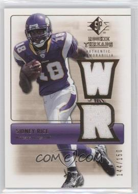 2007 SP Rookie Threads Rookie Threads Gold #RT-SR - Sidney Rice /150