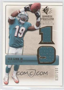 2007 SP Rookie Threads Rookie Threads Gold #RT-TG2 - Ted Ginn /150