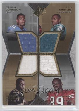 2007 SPx - Freshman Tandems 4 Jerseys #FT4-JGJH - Calvin Johnson, Jason Hill, Ted Ginn Jr., Robert Meachem