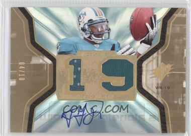 2007 SPx - Winning Materials - Dual Autographs #WM-TG - Ted Ginn /10