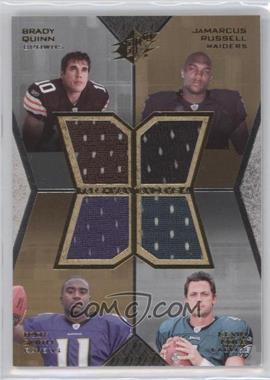 2007 SPx Freshman Tandems 4 Jerseys #FT4-QRSK - Brady Quinn, JaMarcus Russell, Troy Smith, Kevin Kolb