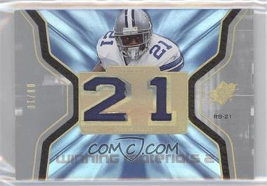 2007 SPx Winning Materials Jersey Number Dual Patch #WM-N/A - Julius Jones /10