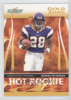 2007 Score Hot Rookie Gold Zone #HR-3 - Adrian Peterson /600