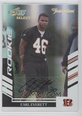 2007 Score Select Inscriptions [Autographed] #320 - Earl Everett