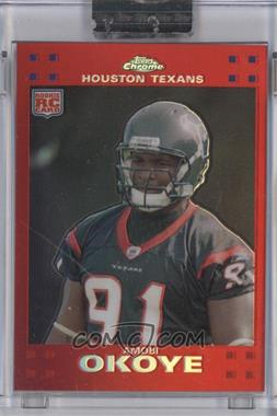2007 Topps Chrome - [Base] - Red Refractor #TC226 - Amobi Okoye /139