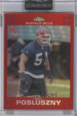 2007 Topps Chrome - [Base] - Red Refractor #TC244 - Paul Posluszny /139
