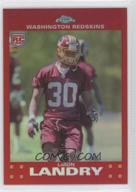 2007 Topps Chrome - [Base] - Red Refractor #TC259 - LaRon Landry /139