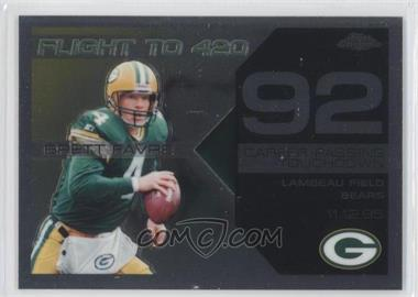 2007 Topps Chrome Multi-Year Issue Brett Favre Flight to 420 #BFC-BF92 - Brett Favre
