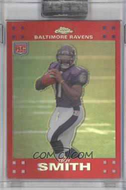 2007 Topps Chrome Red Refractor #TC169 - Troy Smith /139