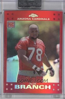 2007 Topps Chrome Red Refractor #TC225 - Alan Branch /139