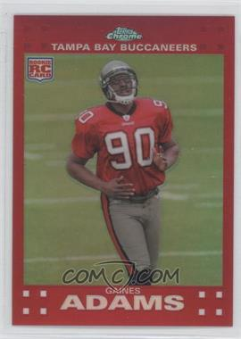 2007 Topps Chrome Red Refractor #TC229 - Gaines Adams /139